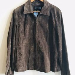 NEW Relativity women's size XL brown genuine suede leather