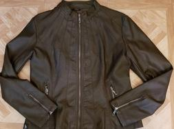 NWOT, Made By Johnny, Women's, Brown, Faux Leather, Moto, Bo