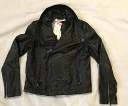 NWT Rezrekshn by Esther Chen Black Leather Moto Style Lined