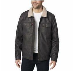 NWT - Levi's Men's Faux Leather Jacket - Dark Brown