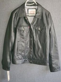🔥NWT Levi's Mens Fashion Leather Button & Zip Up Jacket C