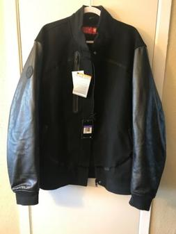 NWT MEN'S NIKE AIR DESTROYER LEATHER WOOL JACKET SIZE 3XL  M
