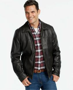 NWT Tommy Hilfiger Men's Classic Faux Leather Full Zip Water