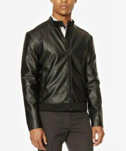 NWT Men's Kenneth Cole Reaction Faux Leather and Neoprene Mo