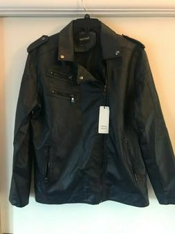 nwt men s faux leather motorcycle jacket