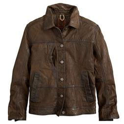 NWT TIMBERLAND Men's L Leather Bomber Trucker Ranch Jacket B