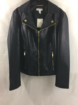 Nwt Calvin Klein Women's Faux Leather Jacket Size L