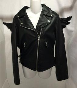 Adidas Originals Jeremy Scott Wings Black Leather Biker Moto