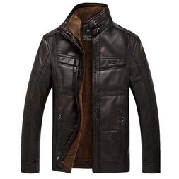 PU Brand High Leather <font><b>Jacket</b></font> <font><b>Me