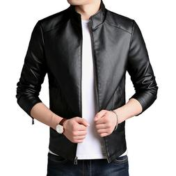 PU Synthetic leather Jacket Men's Jackets Winter Coats Outer