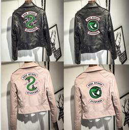 Riverdale South Side Serpents Faux Leather Jackets Women Lad