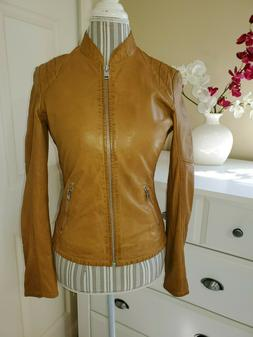 MAURITIUS SASHI Womens Honey Vegetable Tanned Lamb Leather M