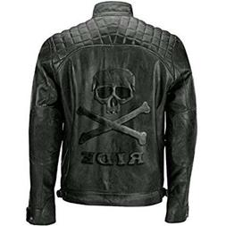 skull bones ride men motorcycle black real