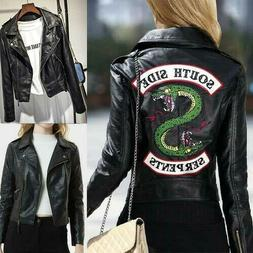 South Side Serpents Riverdale Snake Gang Women PU Leather Ja