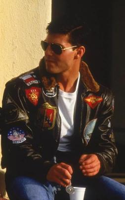 Tom Cruise Pete Maverick Top Gun Flight Bomber Jacket Jet Pi
