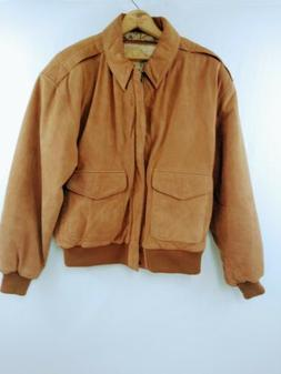 Vintage G-III Leather Fashions Mens Brown Leather Bomber Sty