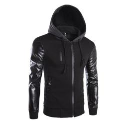Winter <font><b>jacket</b></font> men PU <font><b>Leather</b