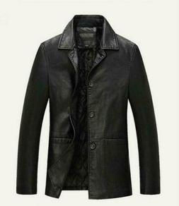 Winter Mens Warm Real Leather Jacket Men Thick Jackets Coat