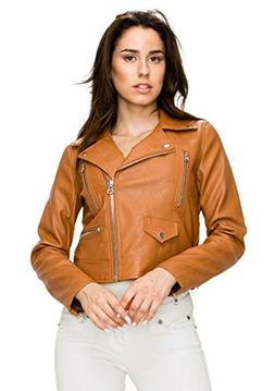 Lock and Love WJC1852 Womens Faux Leather Motorcycle Biker J