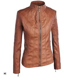 Lock and Love WJC877 Womens Panelled Faux Leather Moto Jacke