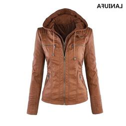 Women Faux PU <font><b>Leather</b></font> <font><b>Jackets</