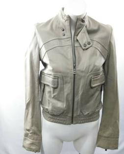 Ted Baker women leather jacket size 2 US 6