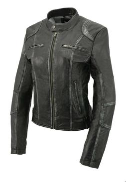 Milwaukee Leather Women's Sheepskin Scuba Style Moto Jacket