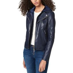 Tommy Hilfiger Women's Top Layered-Look Faux-Leather Jacket