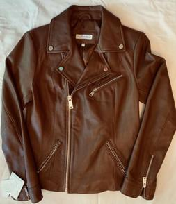 Calvin Klein Womens Genuine Leather Jacket by Wilsons Small