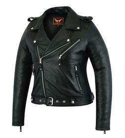 Womens Genuine Sheep Leather Classic Crop Biker Jacket Moto