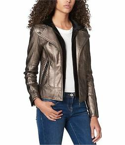 Tommy Hilfiger Womens Layered Leather Jacket