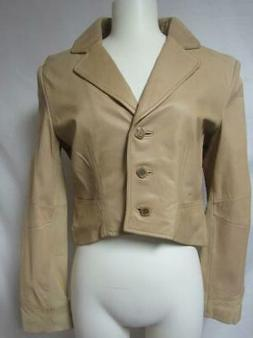 womens size medium cropped leather jacket a1