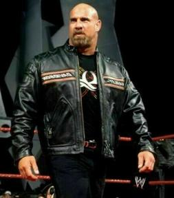 WWE Goldberg Bill Men's Harley Davidson Black Leather Biker
