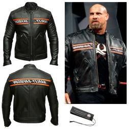 wwe mens bill goldberg biker vintage harley