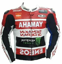 Yamaha Motorbike Racing Leather Jacket